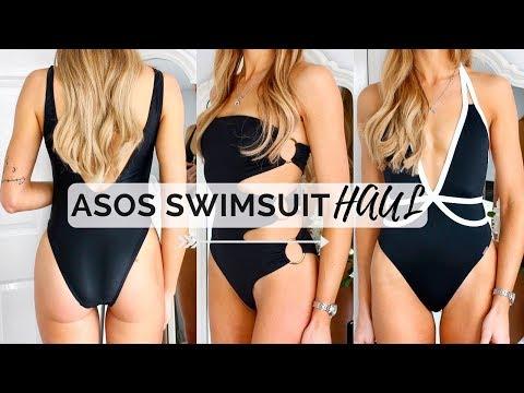 ASOS SWIMWEAR HAUL/TRY ON   High Waist & Low Back Swimsuits