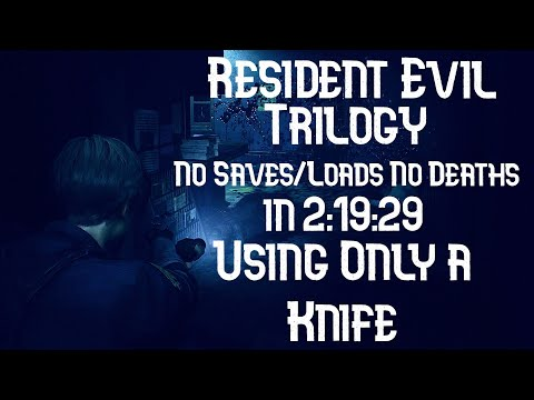 Resident Evil 1,2 and 3 - Knife Only - 2:19:29 (World Record