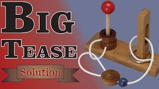 Solution for The Big Tease from Puzzle Master Wood Puzzles