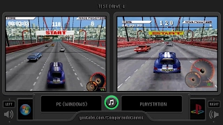 Test Drive 4 (Pc vs Playstation) Side by Side Comparison