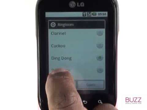 Changing your message tone| LG Optimus Chat The Human Manual