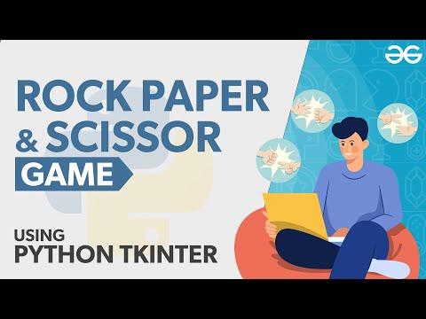 Rock Paper and Scissor Game Using Python Tkinter
