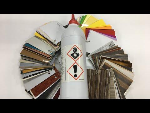 Поклейка Hpl пластика на пур клей