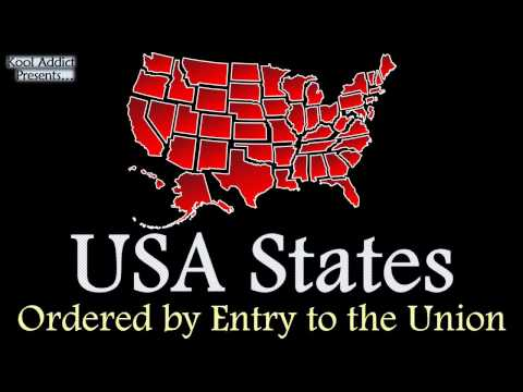 US States by Admission in the Union - Part 1