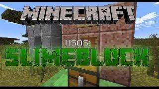 MineCraft 1.8 Usos del Bloque de Slime