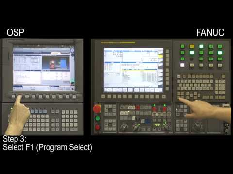 "CNC Control Procedures (Okuma OSP & FANUC): ""Program Select"""