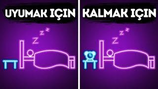 Uyumak için Gerçekten İşe Yarayan 20 Garip Tüyo