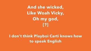 Tyler, the Creator ft. Playboi Carti  - Earfquake (lyrics)
