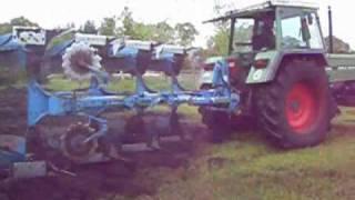 Fendt Farmer 312 LSA mit Lemken VariOpal 7 beim Pflügen am 07.05.09