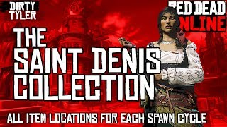 Red Dead Online SAINT DENIS COLLECTION Madam Nazar Weekly Collection Item Locations  RDO