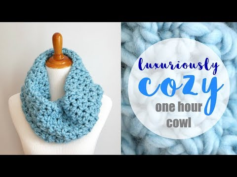 How To Crochet the Luxuriously Cozy One Hour Cowl