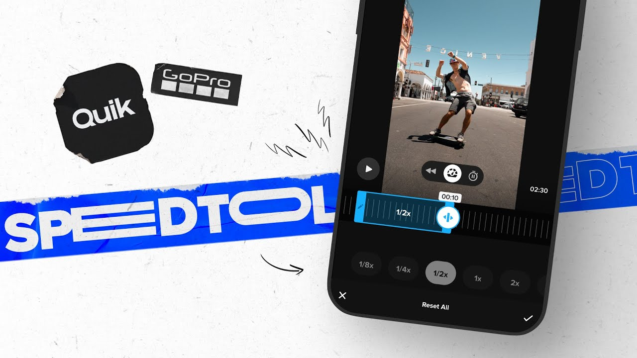 GoPro: How to Use Quik's Speed Tool   Speed Up, Slow Down and Freeze Your Videos with Ease