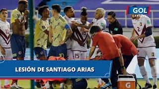 Impresionante lesión de Santiago Arias en el partido Colombia vs Venezuela
