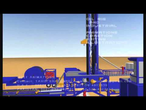 Oil Rig  Coiled Tubing Animation