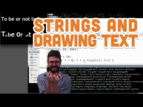 13.1-strings-and-drawing-text---processing-tutorial