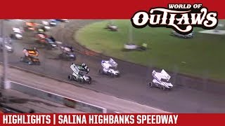 World of Outlaws Craftsman Sprint Cars Salina Highbanks Speedway May 5, 2018 | HIGHLIGHTS