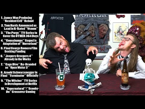 The Horror Show News WITH BOOZE 5/26/17 - James Wan RESIDENT EVIL Reboot & Tom Hardy Cast As VENOM