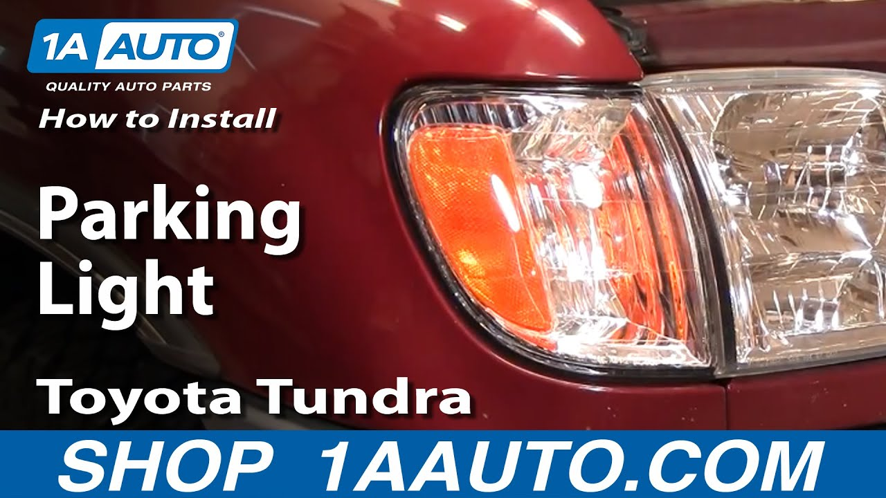 hight resolution of how to replace parking lights 00 06 toyota tundra