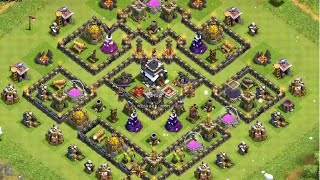 GOWIHOG/GOHOG - Clash of Clans - Attaque sur HDV9 100% #036 Gameplay