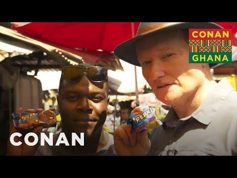 Conan & Sam Richardson Explore Makola Market - CONAN on TBS