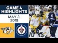 NHL Highlights | Predators vs. Jets, Game 4 - May 03, 2018