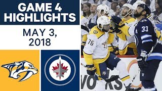 NHL Highlights | Predators vs. Jets, Game 4 - May 03, 2018