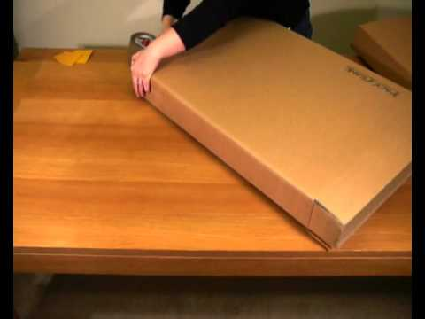 Packaframe picture frame shipping box - YouTube