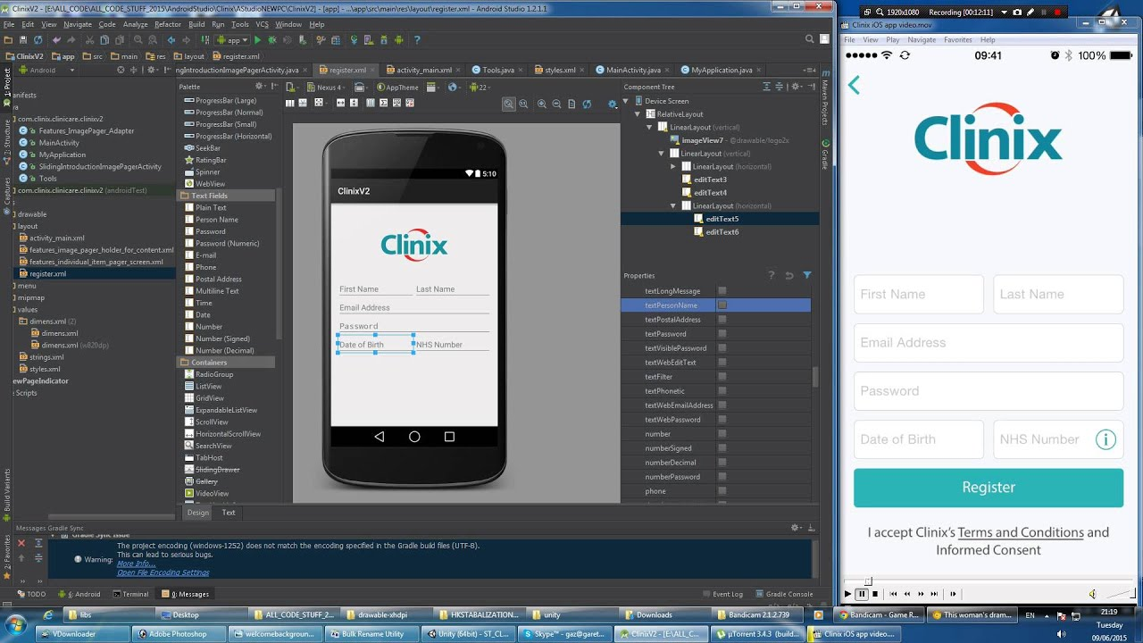 Brief Android GUI tutorial using Android Studio - YouTube