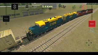 Train and rail yard simulator  #2 - Scenario 3 (All Locomotives & Rail cars/Wagons)