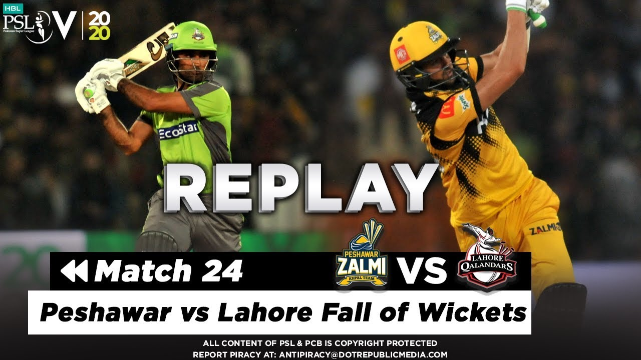Peshawar vs Lahore Fall of Wickets | Peshawar Zalmi vs Lahore Qalandars | Match 24 | HBL PSL 2020