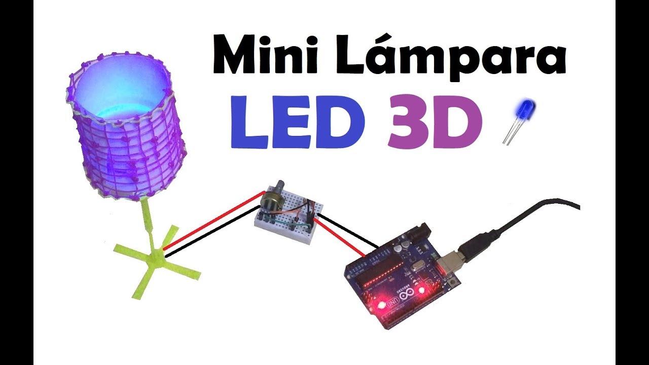 Como hacer una Mini Lámpara LED con un boli 3D - YouTube