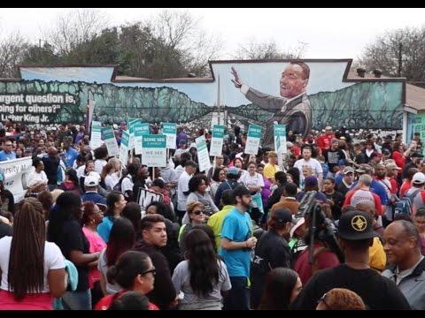 Martin Luther King Jr March San Antonio Texas Jan 16 2017