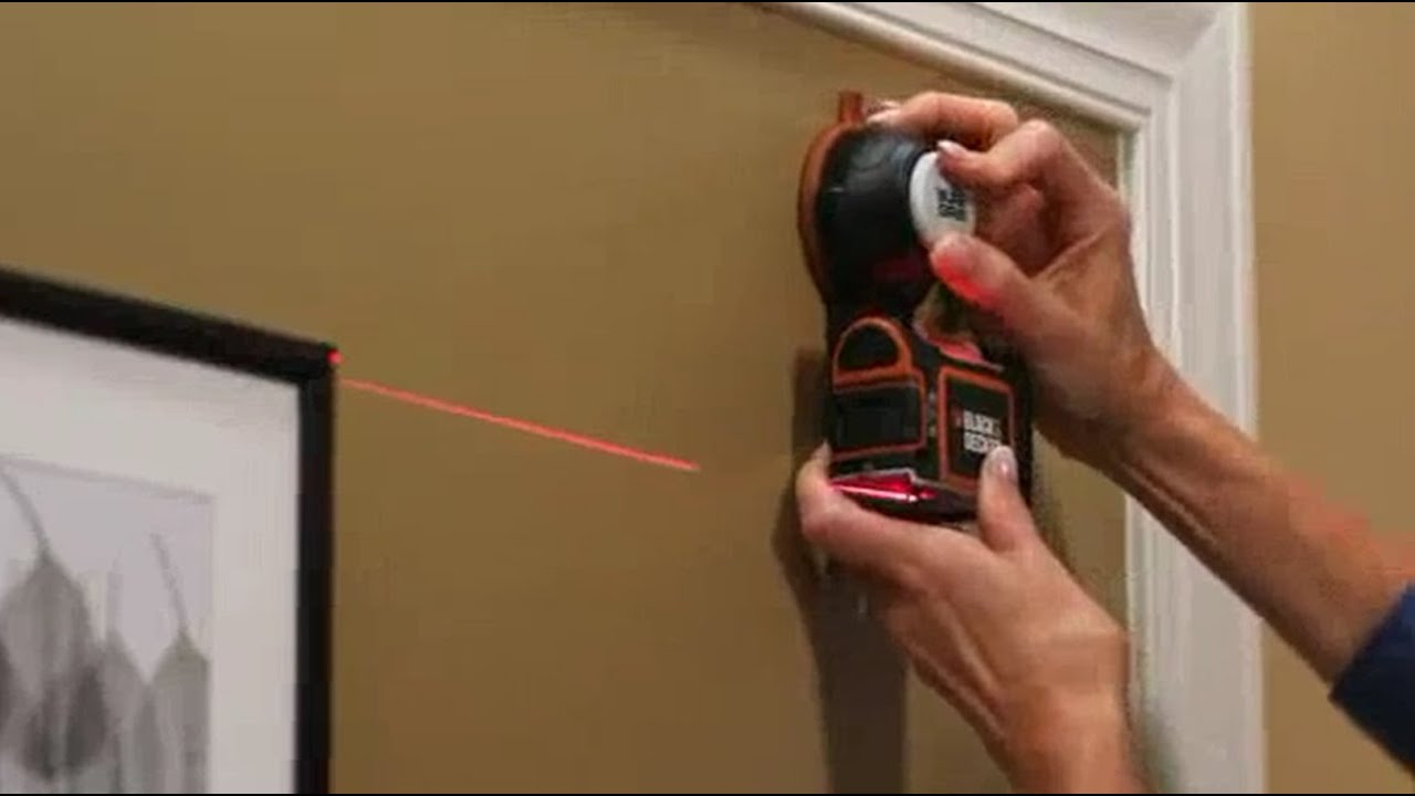 Black Decker Suregrip All In One Laser Level Hanging A Shelf