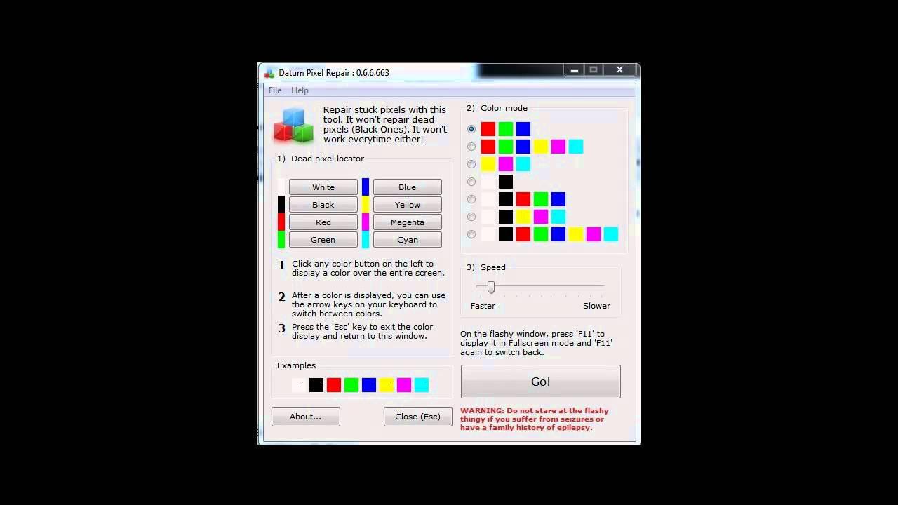 stucked pixel lcd monitor pixelfehler entfernen reparieren kostenloser software download youtube. Black Bedroom Furniture Sets. Home Design Ideas
