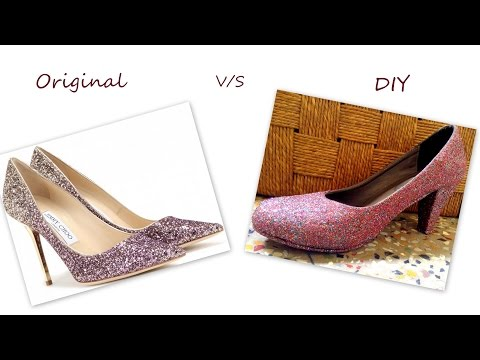 DIY Glitter Pump Heels | Jimmy Choo pumps inspired