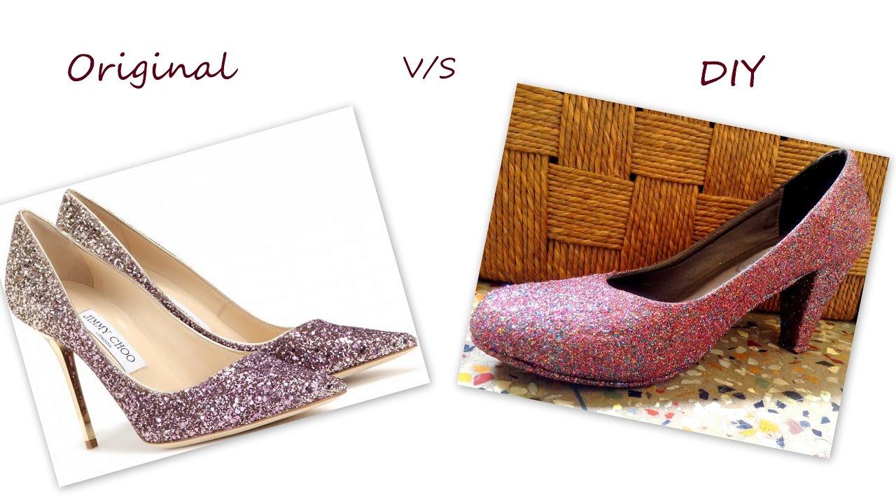 b6048a1e5d51 DIY Glitter Pump Heels