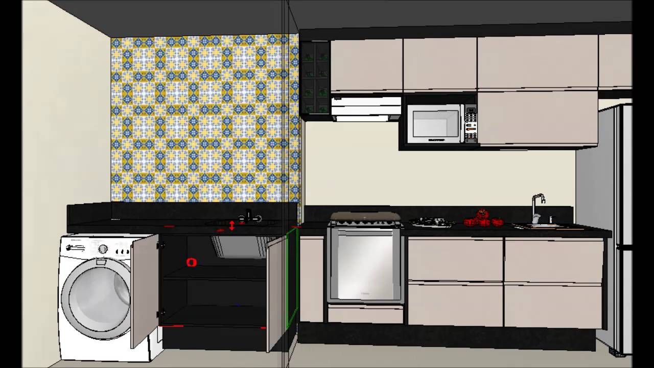 Cozinha Planejada Cinza E Preta Affordable Cozinha Planejada Linha