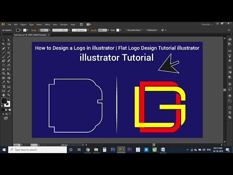 how to design a logo in illustrator | flat logo design tutorial illustrator | illustrator tutorial thumbnail
