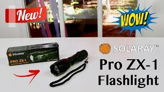 😍 SOLARAY PRO ZX-1 Professional Series Tactical  Flashlight  - Review ✅