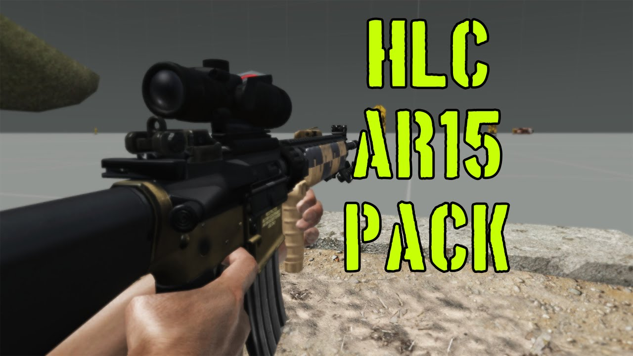 arma 3 - hlc ar15 pack - mod review