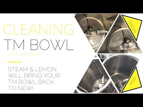 Get your TM Bowl Sparkling clean. A Thermomix Cleaning hack.