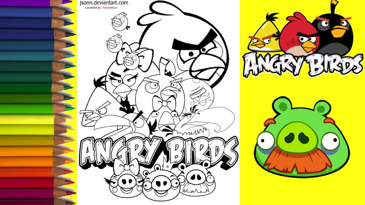 Mewarnai Gambar Angry Bird Mewarnai Untuk Anak Anak