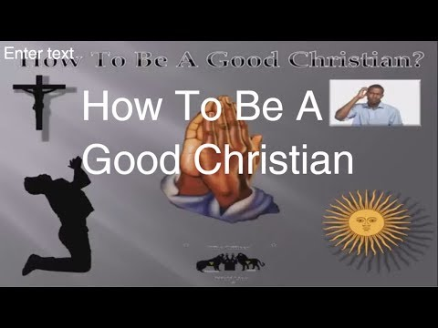 how to be a good christian - black hebrew...
