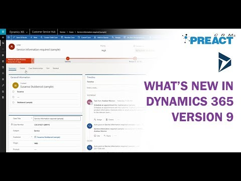 What's New in Microsoft Dynamics 365 - Version 9 (v9.0)