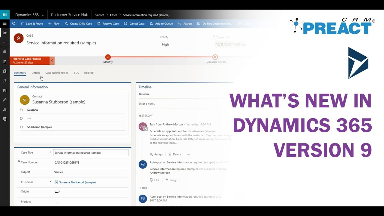 What's New in Microsoft Dynamics 365 - Version 9 (v9 0)