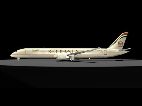 3D Model of Etihad 787 Dreamliner