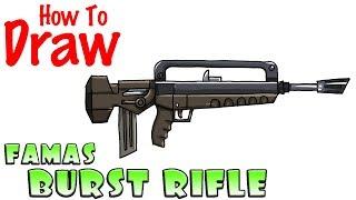 How to Draw FAMAS Burst Rifle | Fortnite