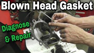 How To Diagnose and Properly Repair a Blown Head Gasket on Overhead Valve Engine (OHV) - With Taryl