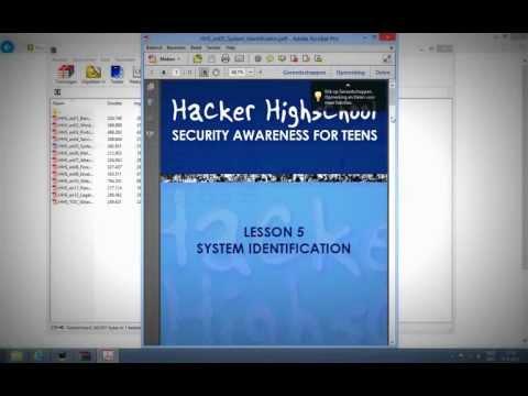 Hacker High School security awareness for Teens