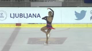 ISU 2014 Grand Prix- Ljubljana Ladies Free Skate Serafima SAKHANOVICH RUS